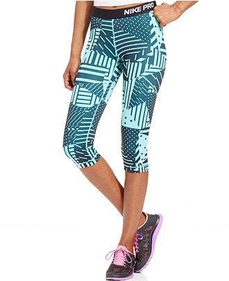 5913136595 Nike Pro Patchwork Printed Capri Leggings - Activewear - Women - Macy s