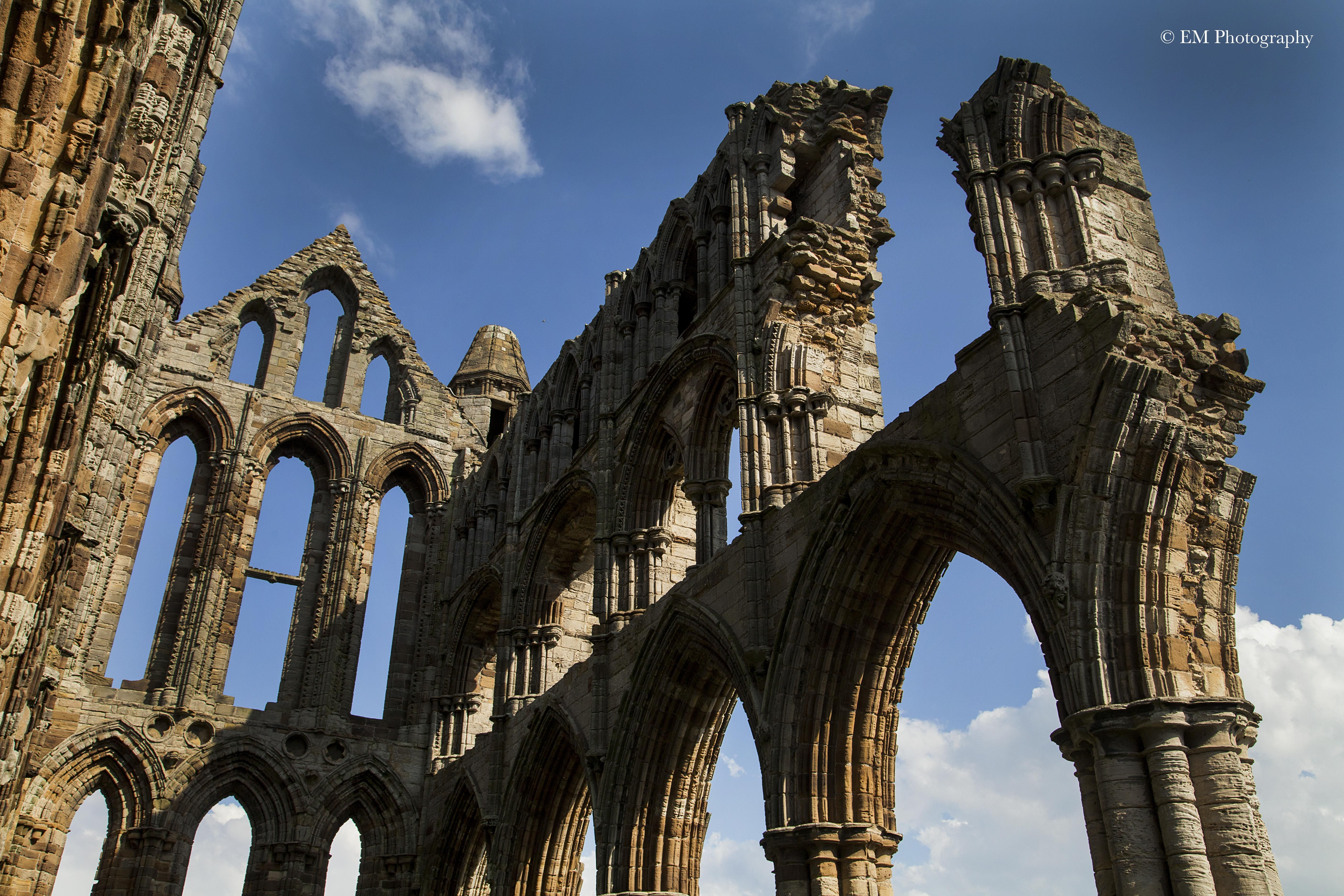 Architecture. Whitby Abbey, Yorkshire.