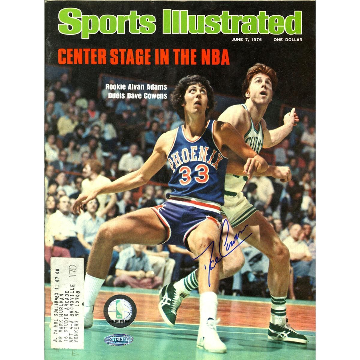 Dave Cowens Signed 6776 Sports Illustrated Magazine