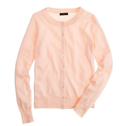 COLLECTION FEATHERWEIGHT CASHMERE CARDIGAN in light peach | Tinted ...