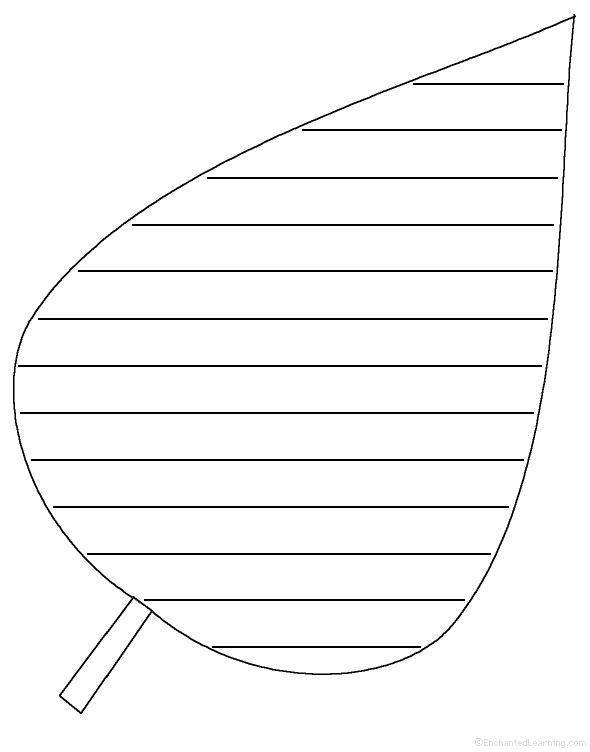 leaf template for writing