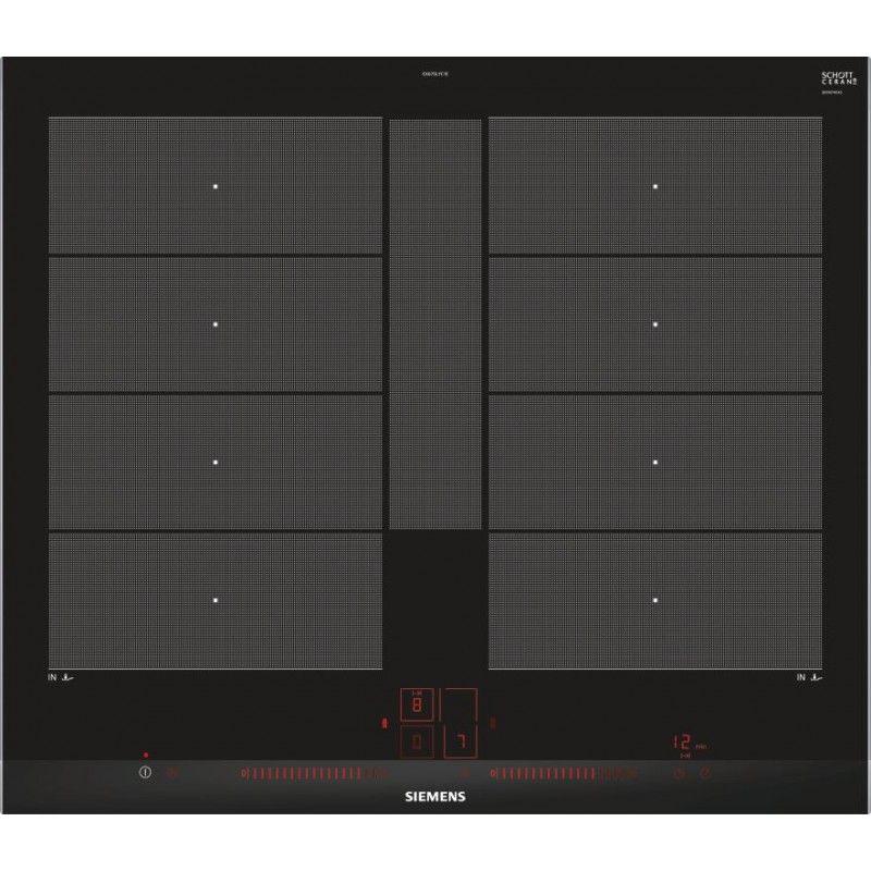 Amazing SIEMENS EX675LYC1E 60 Cm FlexInduction Plus Induction Hob, Stainless Steel  Trim, TouchSlider Plus Controls