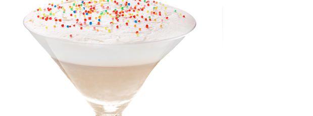 Birthday cake milkshake martini with my birthday right around the