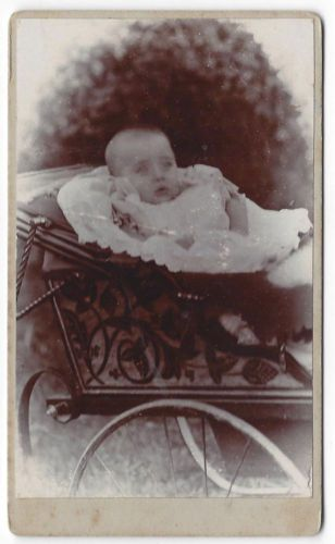 CDV-Victorian-baby-in-a-Pram-Carte-de-Visite-Photograph