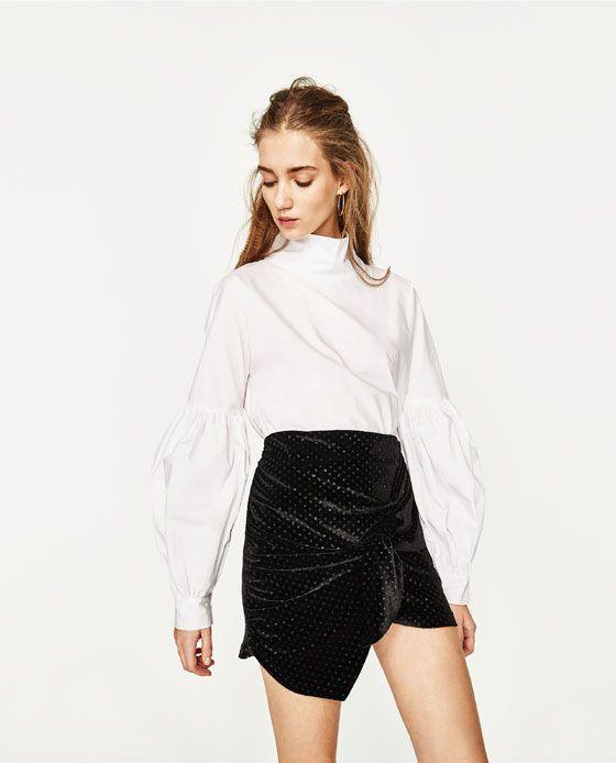 60bb1eea0 Image 5 of VELVET MINI SKIRT from Zara | good look | Velvet mini ...