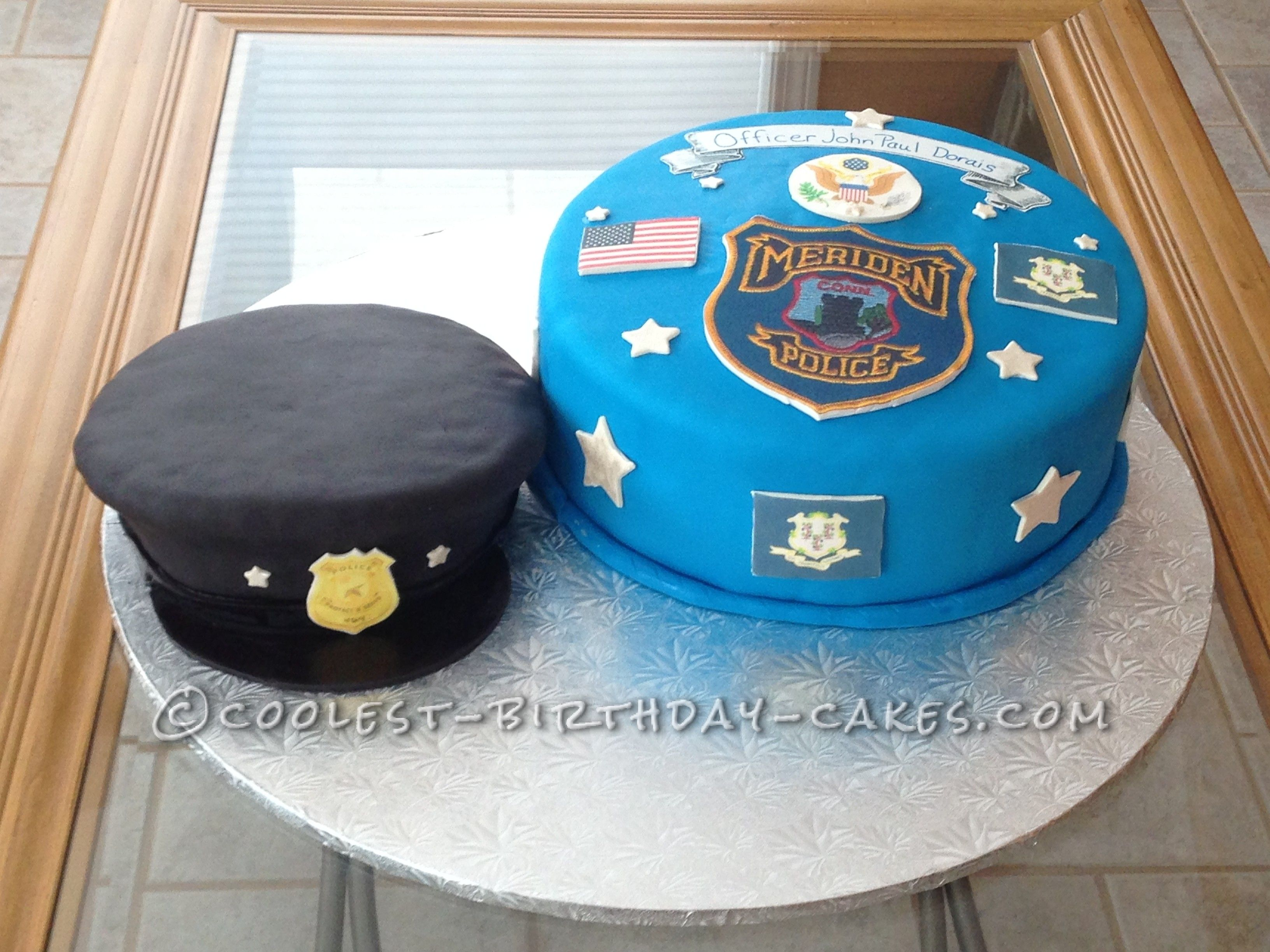 Swell Coolest Police Officer Cake With Images Police Birthday Cakes Funny Birthday Cards Online Alyptdamsfinfo