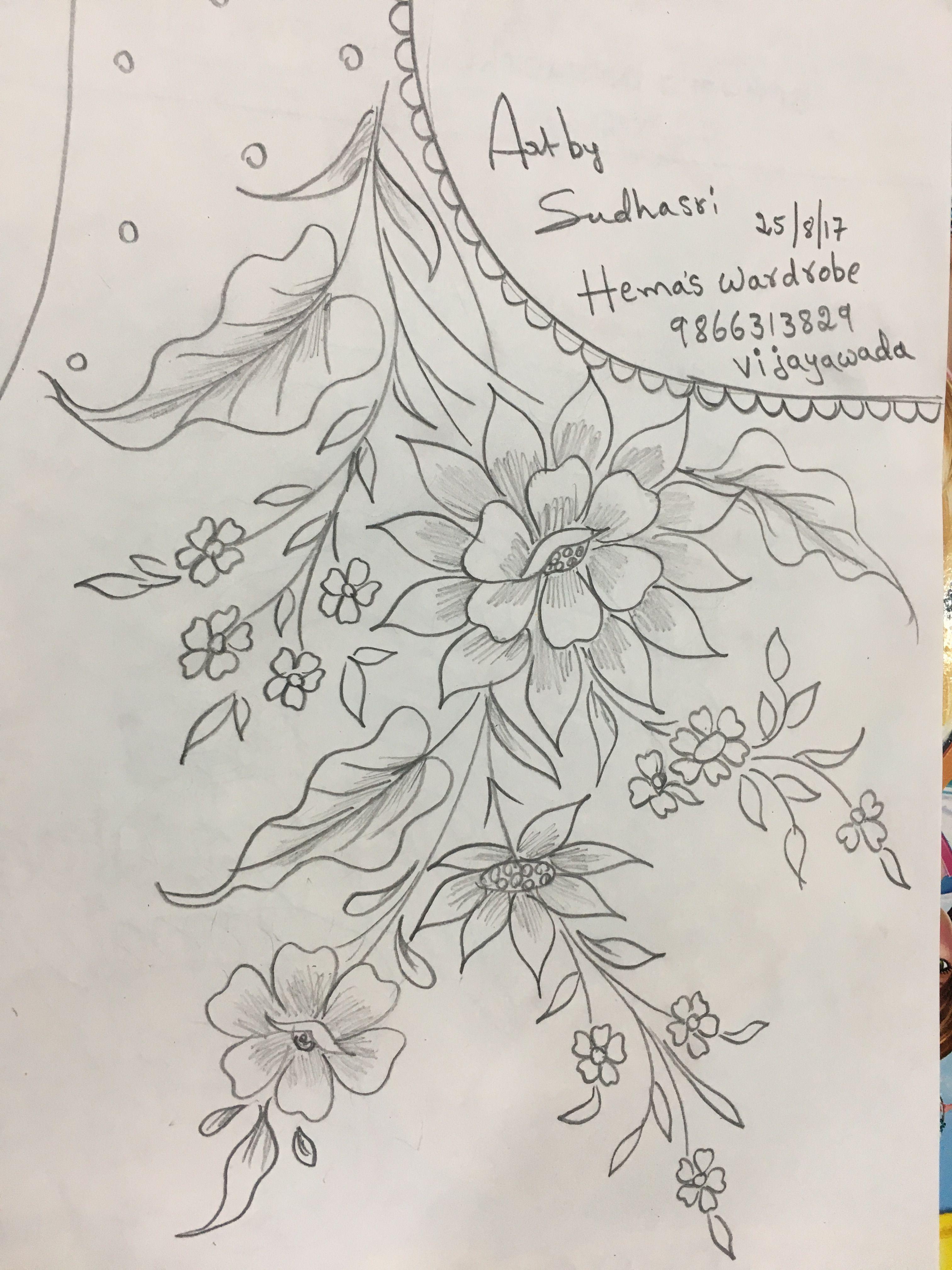 Sudhasri hemaswardrobe | eembroidddry | Pinterest | Bordado, Dibujos ...