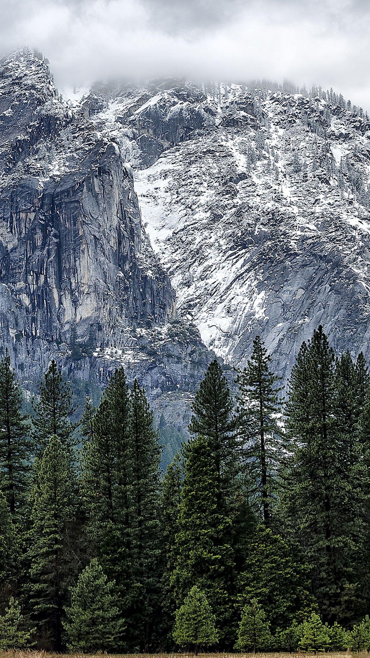 Yosemite Winter Iphone Wallpaper