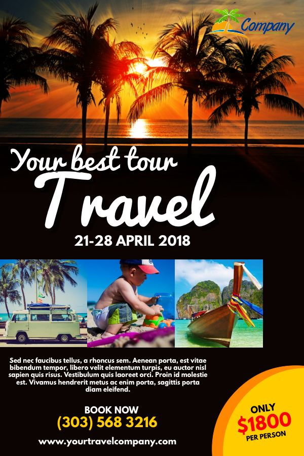 Travel Agency Advertisement Poster Flyer Social Media Template