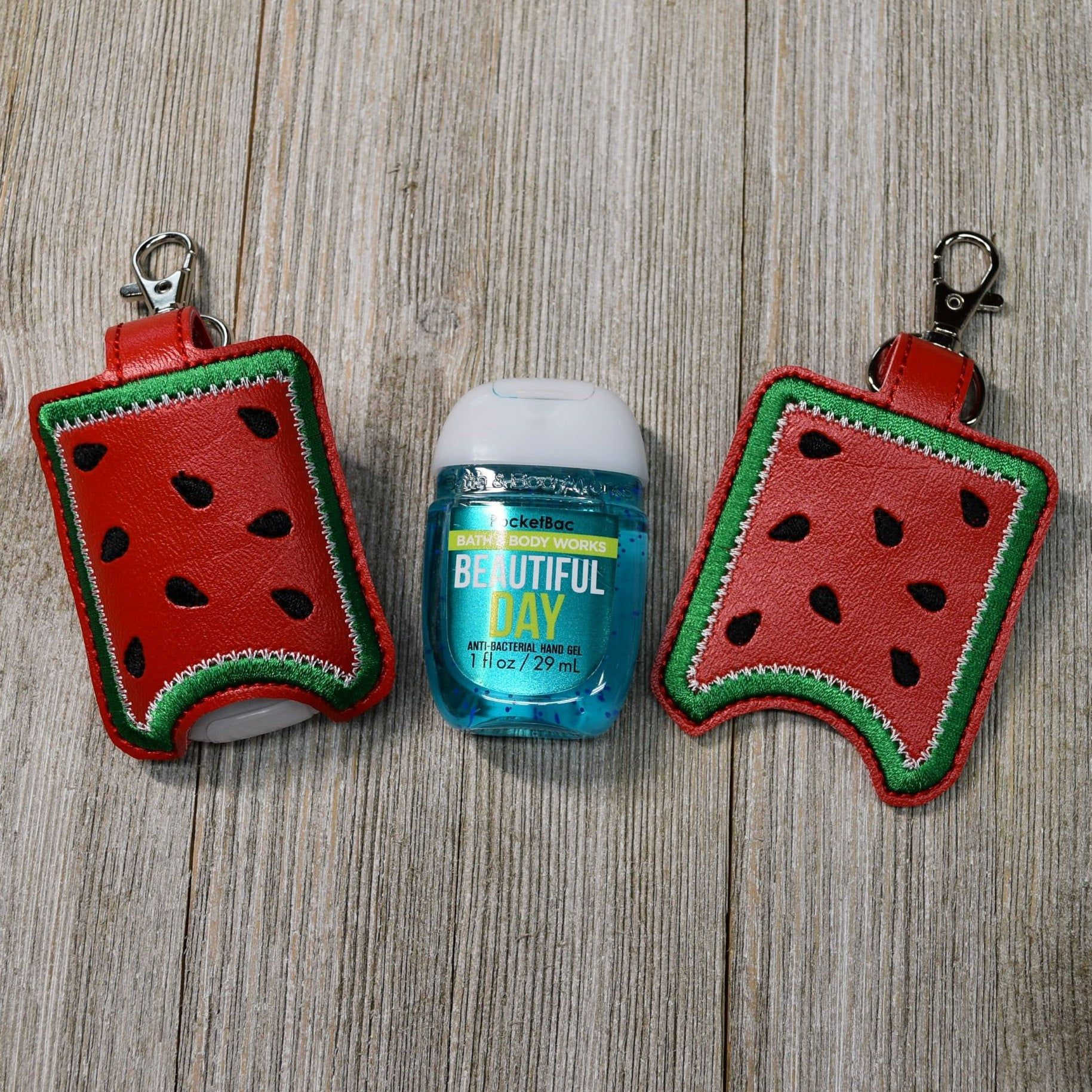Hand Sanitizer Holder Watermelon Sanitizer Keychain Pocketbac