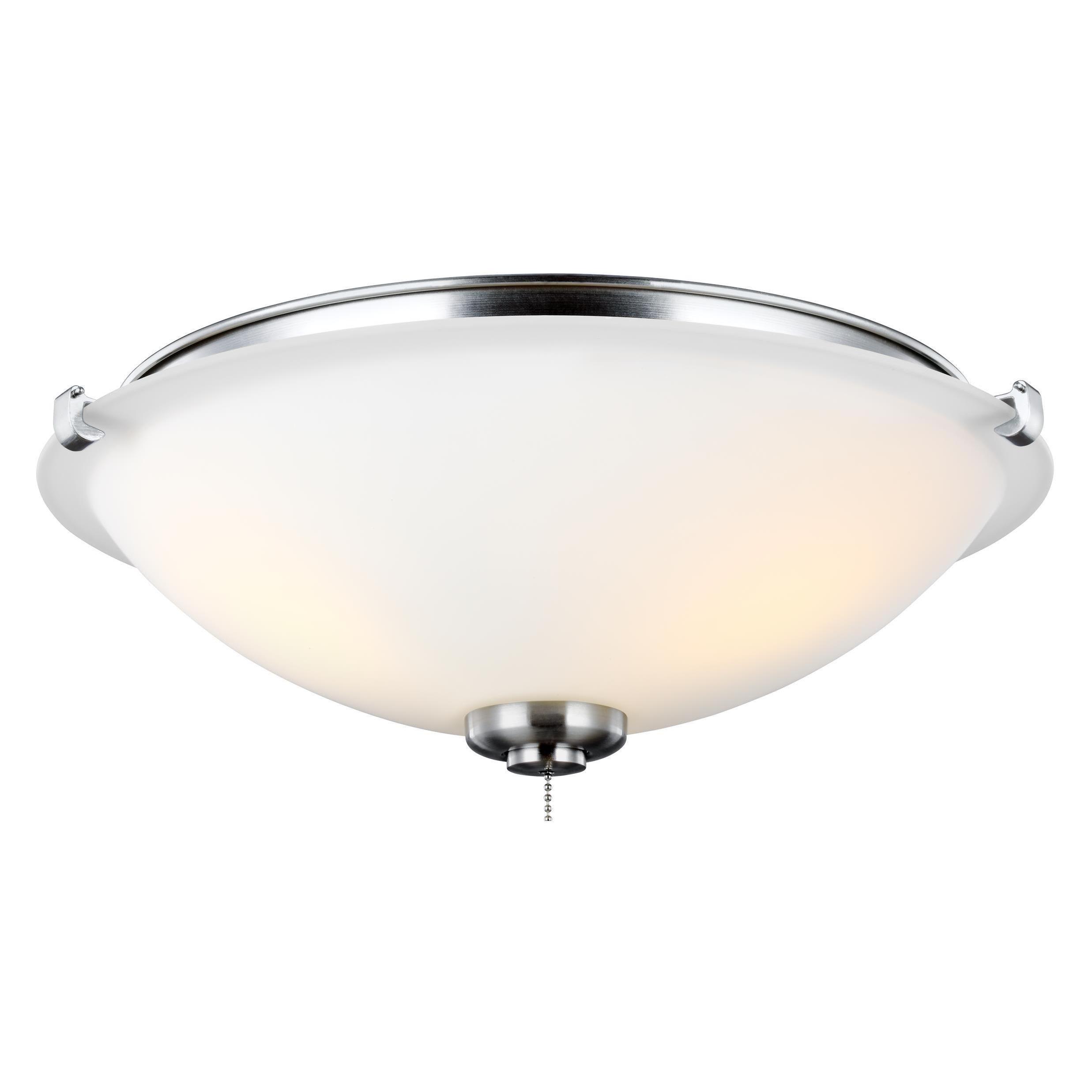 Monte Carlo 3 Light Kit Brushed Steel Silver Ceiling Fan Lights
