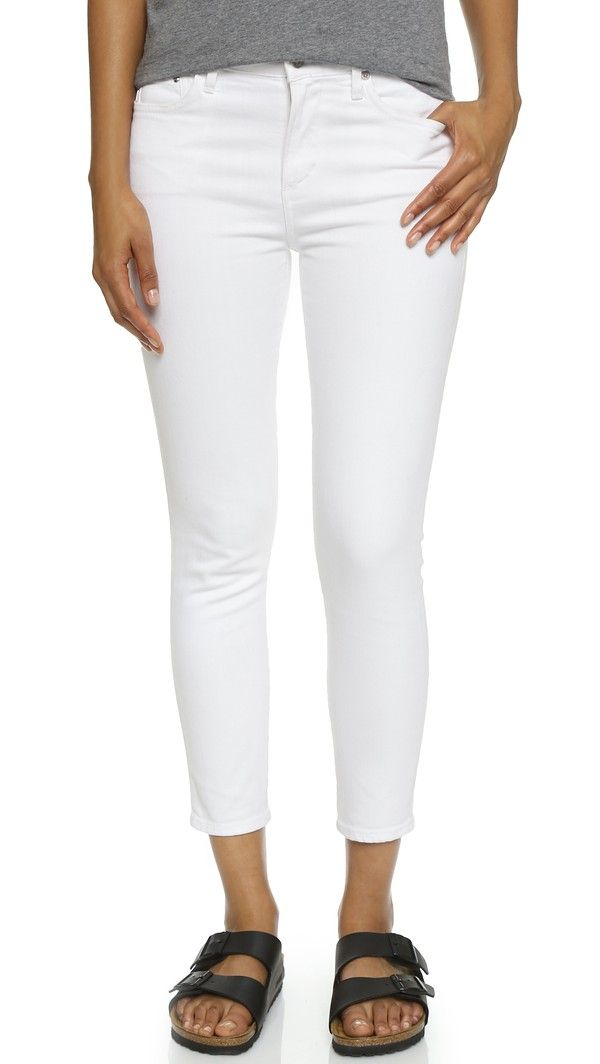 0290d480151 Citizens Of Humanity Crop Rocket High Rise Skinny Jeans - Optic White