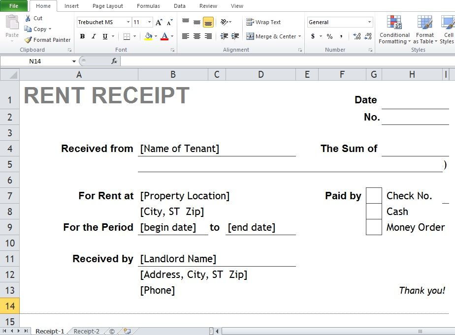 Where Can You Find The Best Excel \ Word Rental Receipt Templates - cash receipt sample