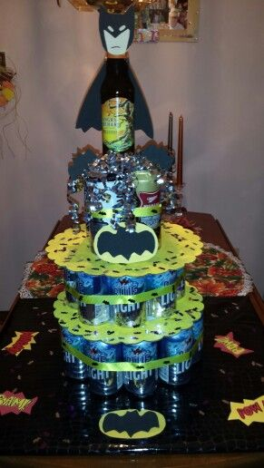 Batman beer cake for my daughters boyfriends birthday Craft