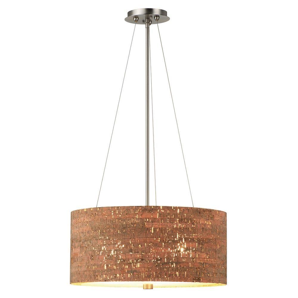 Cork drum shade pendant light f192236 destination lighting cork drum shade pendant light f192236 destination lighting aloadofball Choice Image