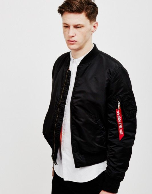 18644b2ce Alpha Industries MA1 VF 59 Bomber Jacket Black - ON SALE NOW | Shop ...