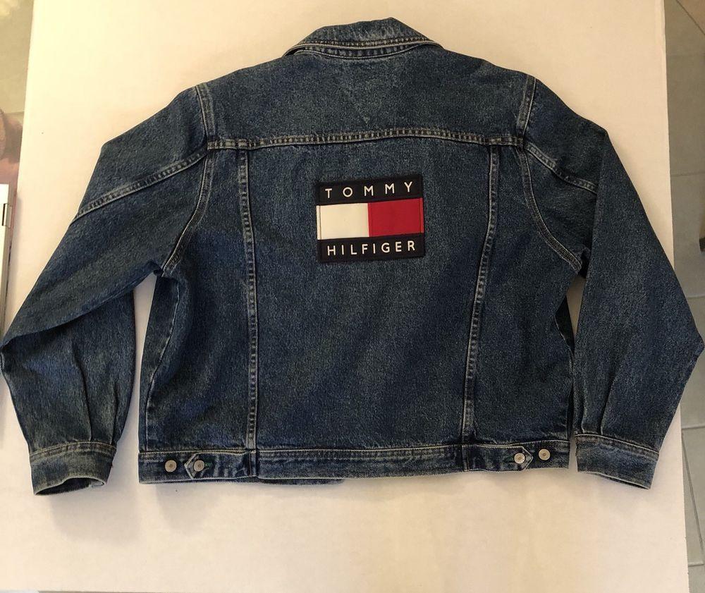 Mens Vintage 90 s Tommy Hilfiger Denim Jean Jacket Flag Logo Stonewashed L   fashion  clothing  shoes  accessories  mensclothing  coatsjackets (ebay  link) 6cc1560358