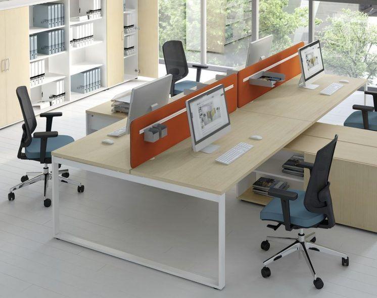 Schreibtisch für 2 Personen mit Managerschrank OGI_Q (mit