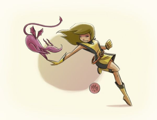 Kitty Pryde and Lockheed by *mikemaihack