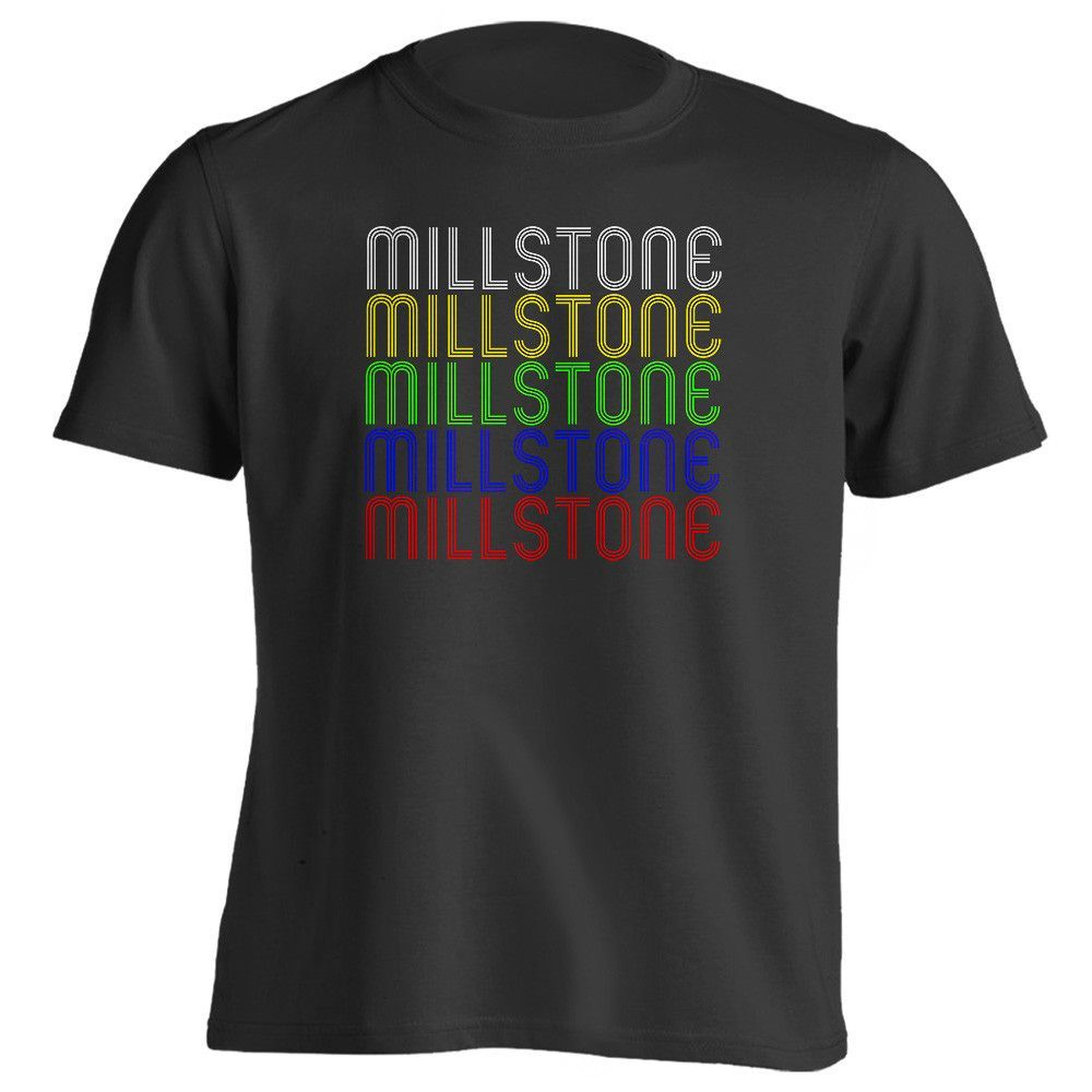 Retro Hometown - Millstone, KY 41838 - Black - Small - Vintage - Unisex - T-Shirt