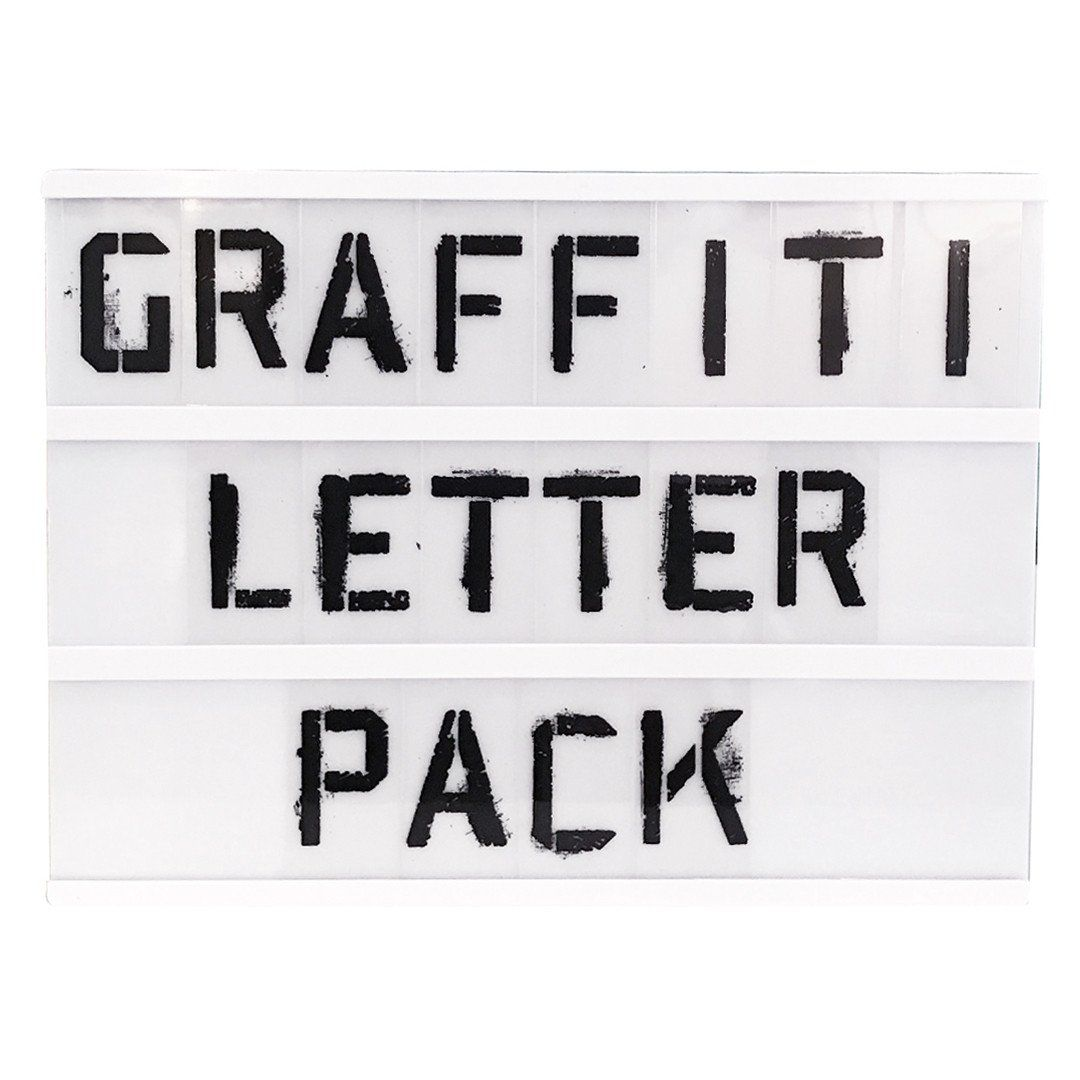 Spray Paint Stencil Letter Pack For A4 Lightbox From