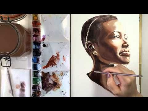 Artist Demonstrates Watercolor Of Darker Skin Tones Watercolor