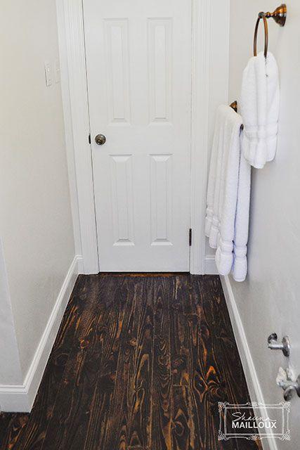 Reclaimed Wood Bathroom Floor | Bathroom flooring ...