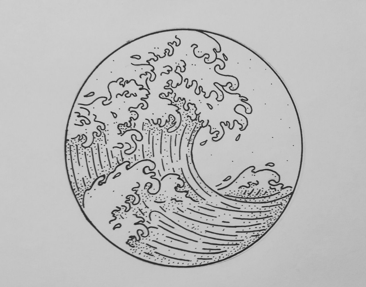 Simple wave sketch | Waves sketch, Easy drawings, Easy ...Waves Drawing Tattoo