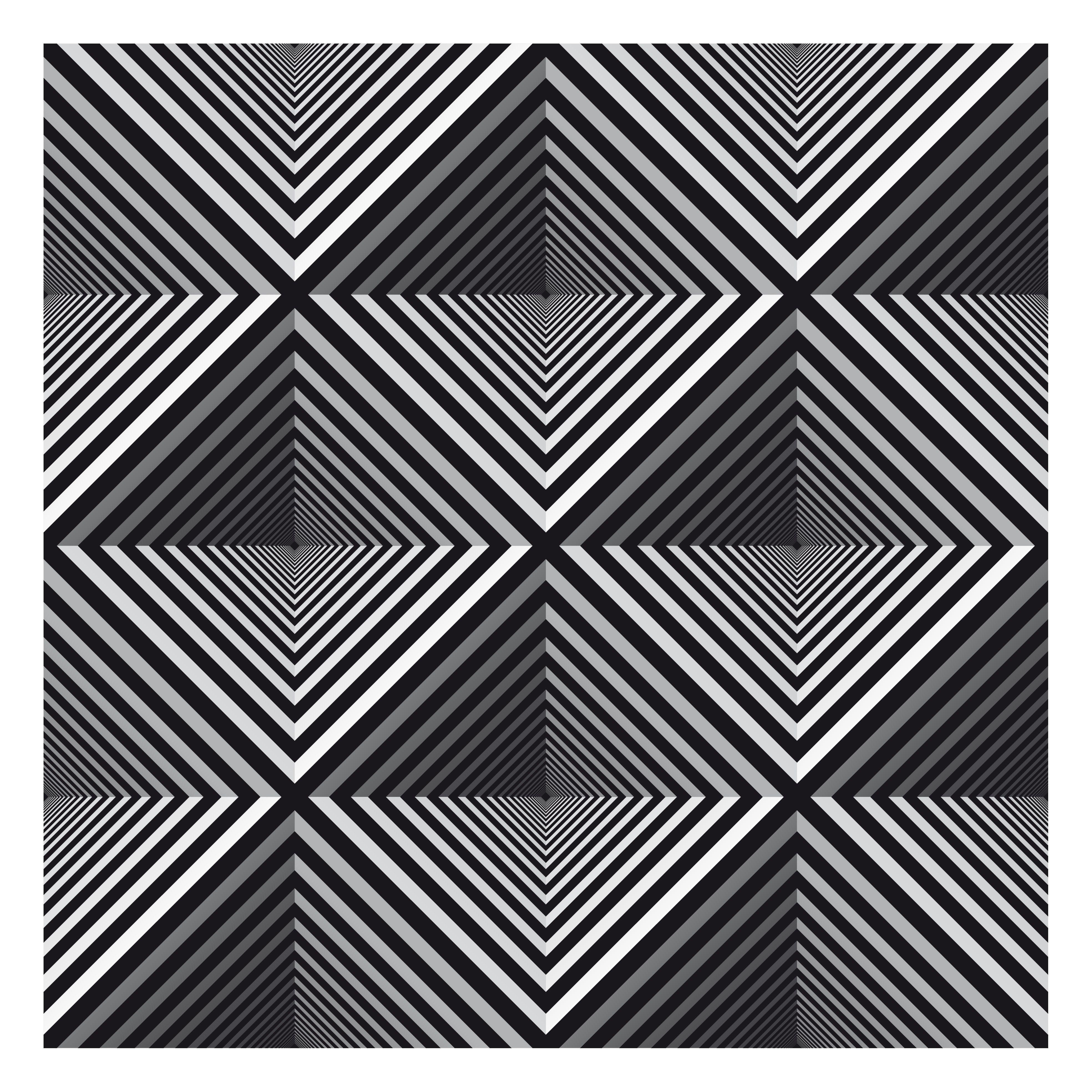 Four hollow pyramids tangledoodles pinterest for Geometric illusion art
