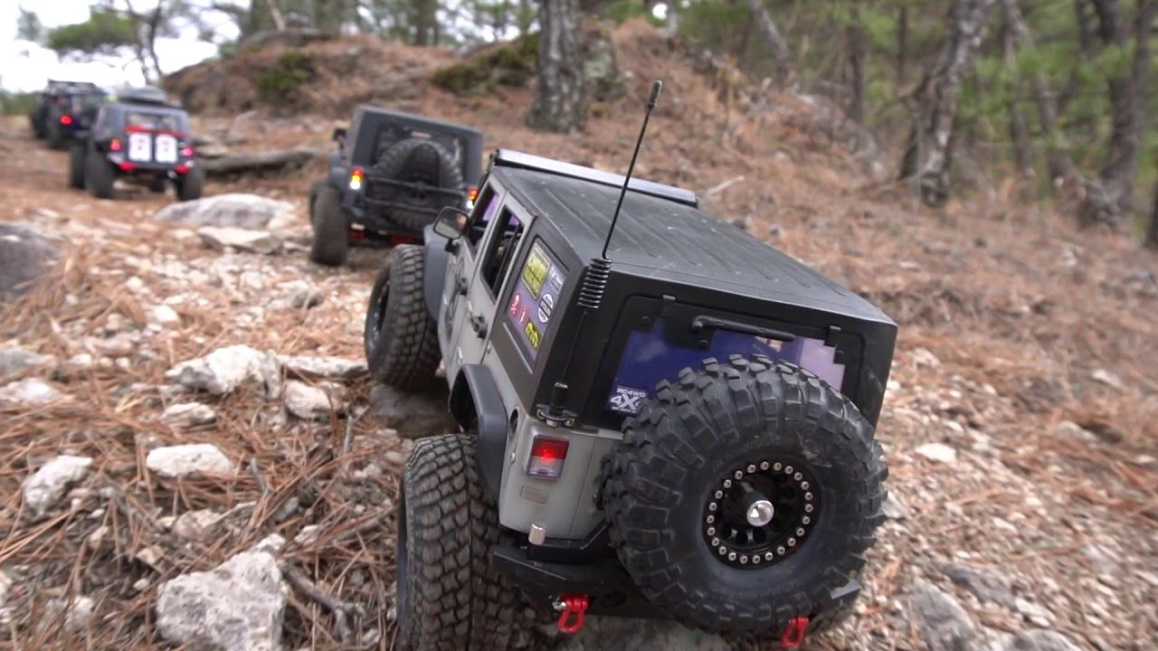 1 10 Scale Jeep Rubicon Off Road Adventure Going To The Summit