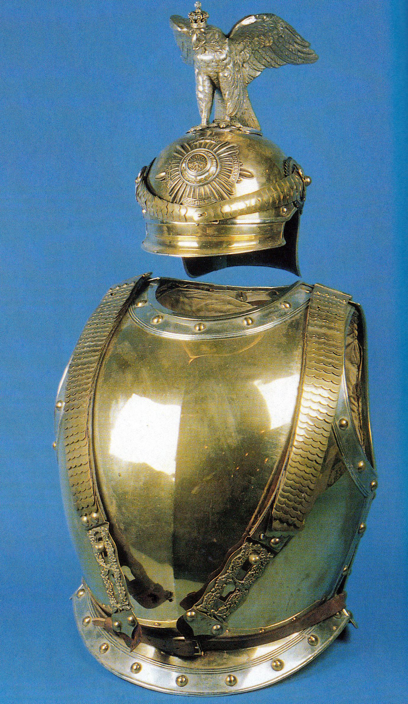garde du corps regiment officer helmet and kurass 1740 1918 garde du corps regiment. Black Bedroom Furniture Sets. Home Design Ideas