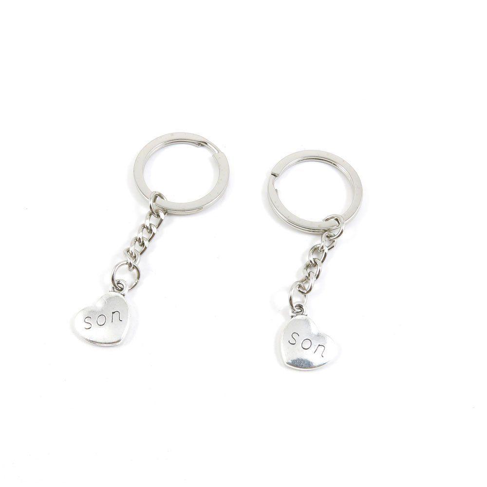1 Pieces Keychain Door Car Key Chain Tags Keyring Ring Chain Keychain  Supplies Antique Silver Tone Wholesale Bulk Lots O6PQ1 Son Love Heart    Sensational ... a059bd3732