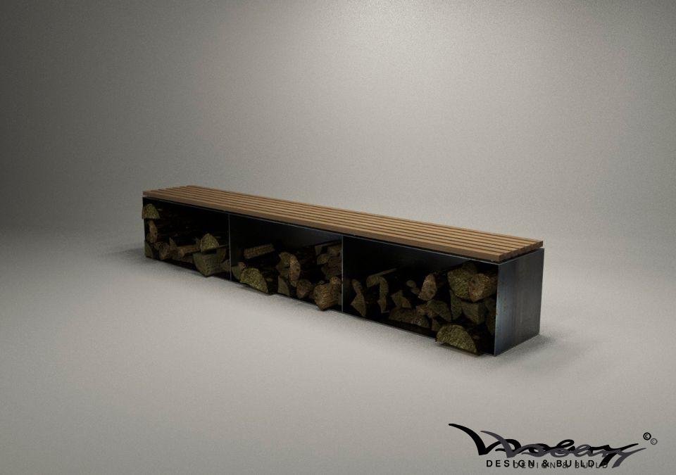 kaminholzaufbewahrung aussen design kaminholzregal stahl. Black Bedroom Furniture Sets. Home Design Ideas