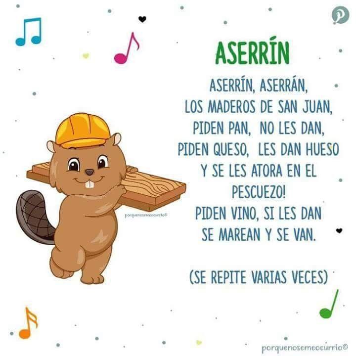 Pin De Sean Mcneil En Spanish Canciones Para Bebés Letras De Canciones Infantiles Canciones Infantiles