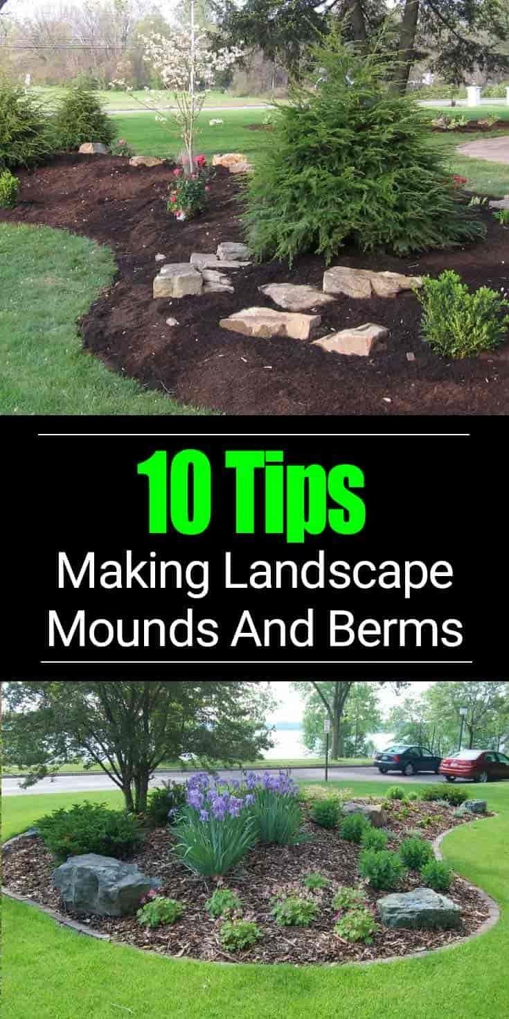 berm landscaping tips building