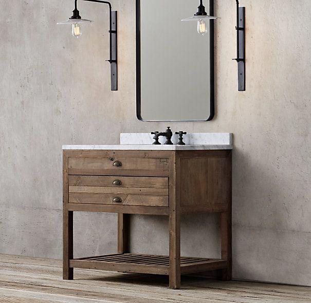 Restoration Hardware Printmaker S Single Vanity Sink 2195 Dimensions Vanity Sink With Top 36 Quot W
