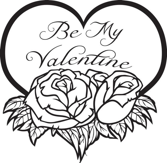 Be My Valentine Coloring Page Printable Valentines Coloring