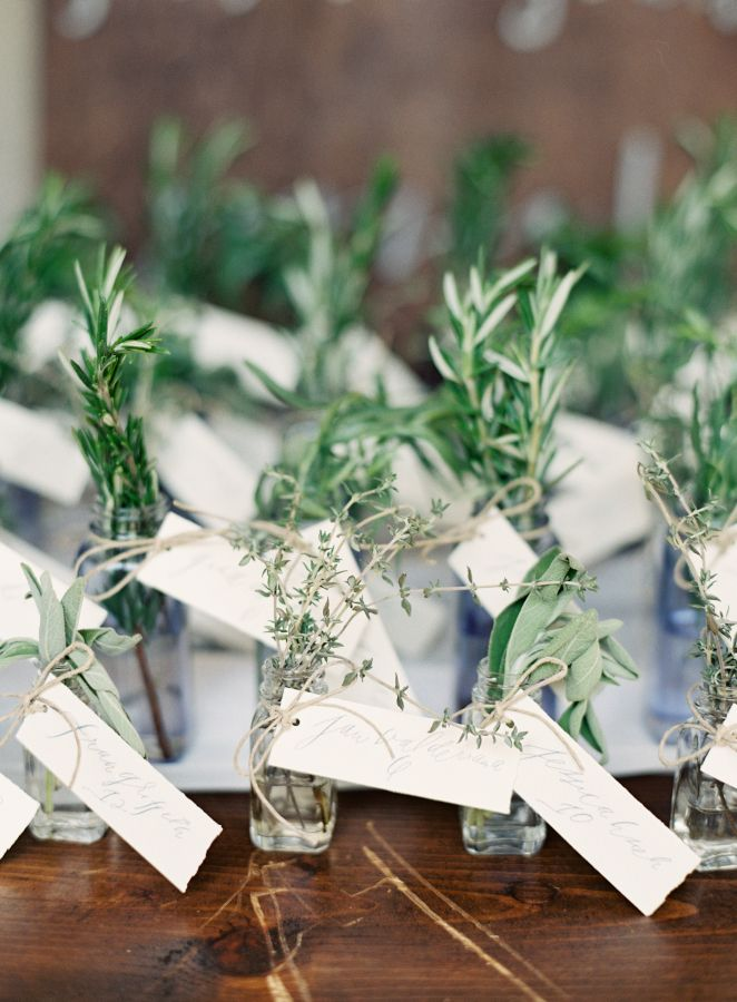 Herb wedding favors for An Elegant Tuscan inspired wedding