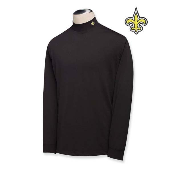 51407cb76 New Orleans Saints Cutter   Buck Long Sleeve Vision Mock Turtleneck -  Features DryTec material - Only  69 !!