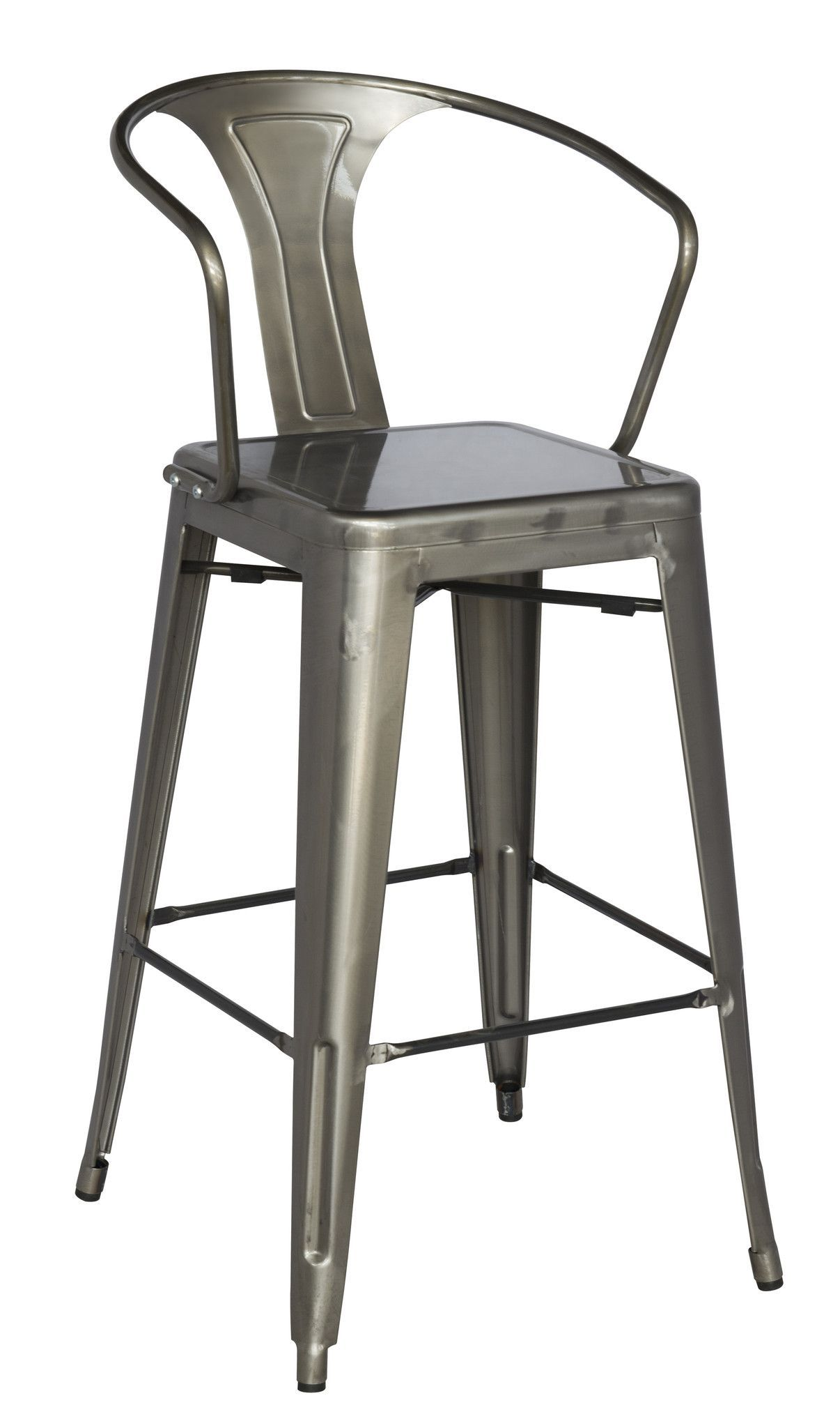 Galvanized Steel Bar Stool For Indoor And Outdoor Use. Approved For  Commercial Use.