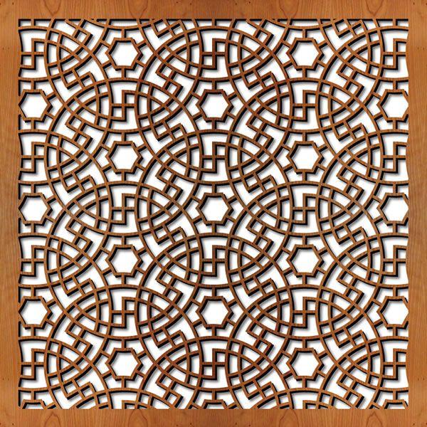 Hobby Line Glas Design New Art : Persian circles lightwave laser lasercut wood panels