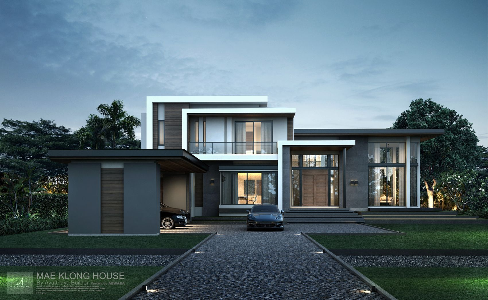 3d perspective aewara exterior 126 modern houses in 2019 - 3d home exterior design tool download ...