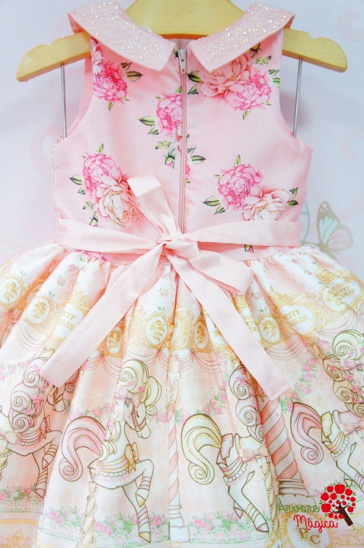 55f4e0a98 Vestido de Festa Infantil Carrossel Petit Cherie