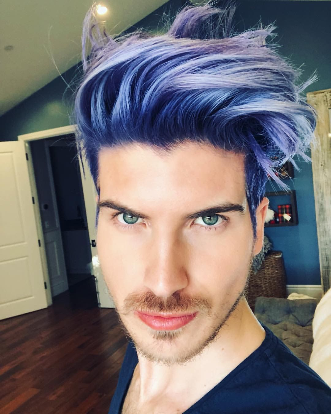 Joey S New Amazing Hair Color Men Purple Hair Men Hair Color
