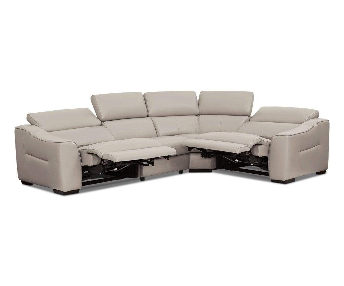 Megalo Leather Power Reclining Sectional Reclining Sectional Power Recliners Sectional
