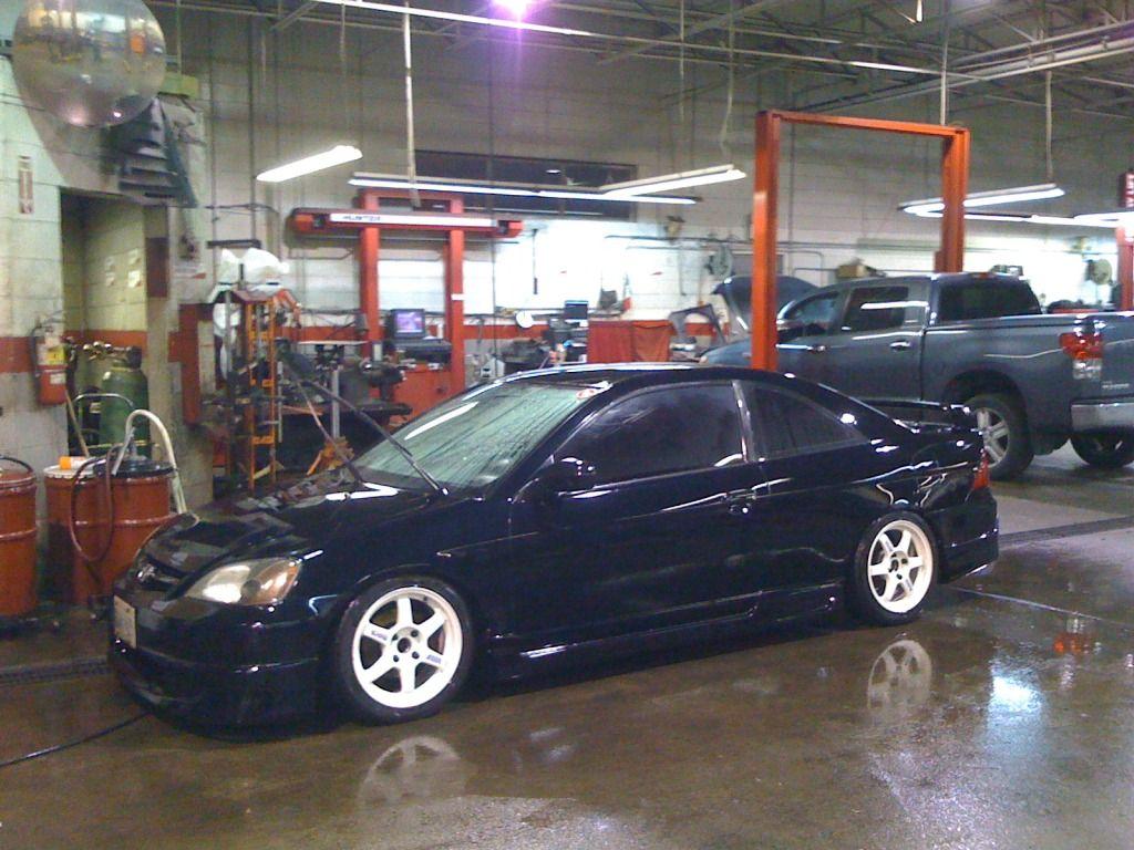 Black and White Black honda, Honda civic ex, Honda civic