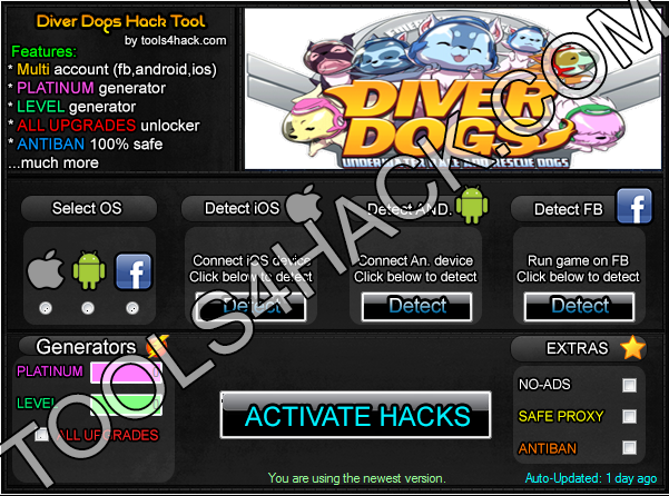 Diver Dogs Hack - 27.06.2014 Updated
