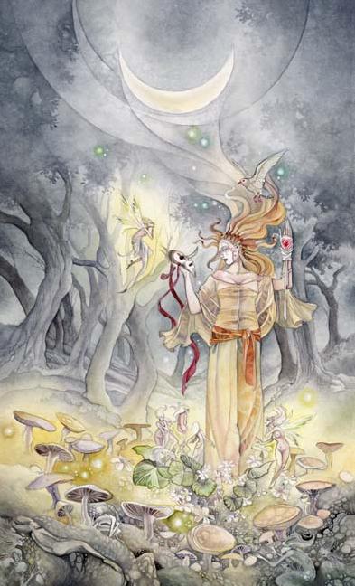 The Moon Tarot card by Stephanie Pui-Mun Law
