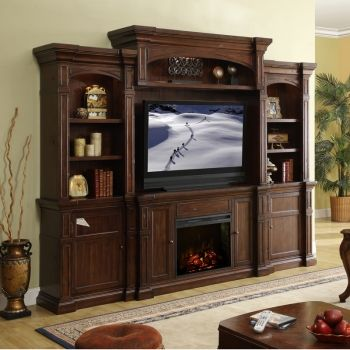 Berkshire 4 Piece Fireplace Entertainment Wall Unit In