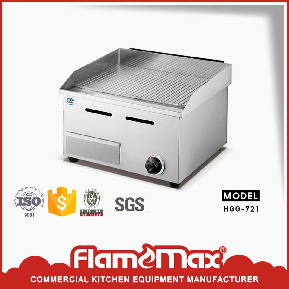 Hotel Kitchen Equipment Gas Grooved Flat Griddle And Grill Stove for ...